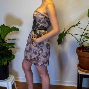 BCBG Beige/Pink strapless dress